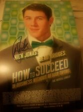 Nick Jonas signed How To Succeed In Business Without trying Broadway Poster