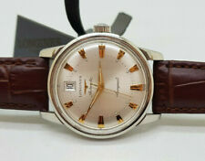RARE VINTAGE LONGINES CONQUEST SILVER  DIAL DATE AUTOMATIC MAN'S WATCH
