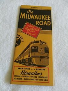 The Milwaukee Road Railroad Timetable. (1952)