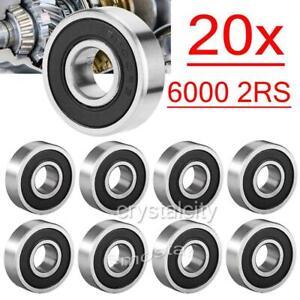20x Rillenkugellager Kugellager 6000-2RS /10x26x8mm RS Kugel  Rollenlager P4 C3