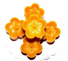 5 100% PURE Beeswax Votive Candles Decorative flower floating candles