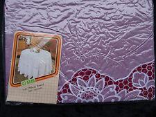 150 cm Ø RUND  ROT Vinyl TISCHDECKE SCHUTZDECKE mit Blumenmotiv NEU