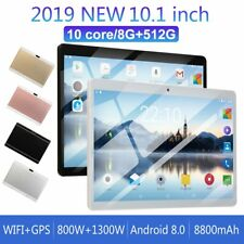 "10.1""inch Tablet 8G+512G 10 Core 4G-LTE Android 8.0 Dual SIM Camera Wifi Phablet"