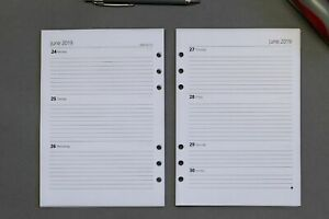 Personal Size Refill Inserts | 2021 | Week-View/ Weekly | Fits Filofax