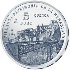 ESPAÑA 5 euro plata 2015 CUENCA Ciudades Patrimonio de la Humanidad II Serie