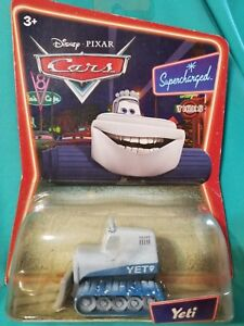 CARS MOVIE YETI DISNEY TOY COLLECTIBLE DIECAST YETI MINIATURE MODEL SUPERCHARGE