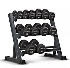 Marcy 3-Level Dumbbell Rack, Dark Grey