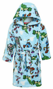 Disney Toy Story 4 Hooded Bathrobe Fleece Dressing Gown Buzz Woody Forky Robe
