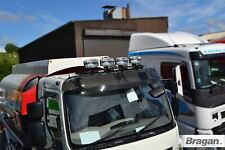 Roof Light Bar BLACK + LEDs + Spots For Iveco Eurocargo Stainless Steel Front