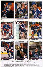1990-91 UD Upper Deck Edmonton Oilers Complete Team Set (26)