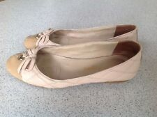 Russell & Bromley Donna Ballerina in pelle Beige Trapuntato Tg UK 4,5 EUR 37,5