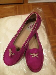 UGG Girls K Ariana Boat Shoe Size 5 Purple Brand New with Tags without box.