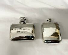 More details for antique silver hip flask x2 scrap or repair