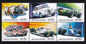 2002 Motor Racing in Australia - Block Set of 6 MINT
