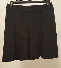BANANA REPUBLIC Sz 0 Lined Pleated Black Striped School Tennis Skirt H3