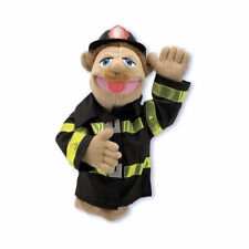 Melissa & Doug #2552 Children's  Firefighter Puppet Firefighter Size OSFA new