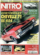 NITRO n°176 DODGE DART COUPE'62/FORD RANCHERO'57/CHEVELLE SS 454 '71+ poster