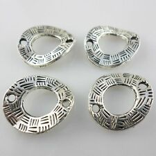 10pcs Tibetan Silver Irregular Rings Beads Charms Connectors15x18mm