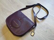 Authentic Longchamp Quadri Purple Leather Crossbody Shoulder Bag violet