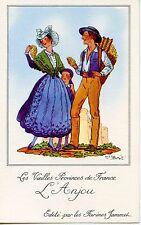 CARTE CHROMO PUB /JEAN DROIT / LES VIEILLES PROVINCES DE FRANCE / L'ANJOU