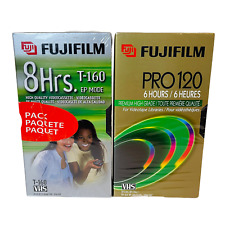 FUJI Blank High Quality VHS Video Tapes T-160 & PRO120 - 4 Tapes Total - Sealed