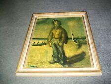 Sir William Dobell-Wangi Boy Framed Print(1948) (18x15 inches)
