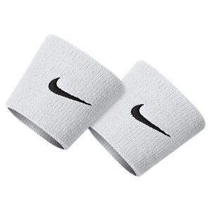 "NIKE Dri-FIT 3"" Wide 2-Pack Wristbands White Black Tennis Basketball"
