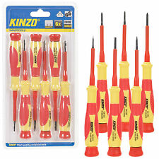 Kinzo Electricians 6pc Screwdriver Set Insulated 1000V VDE IEC Slotted Philips