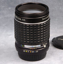 TAKUMAR (BAYONET) 135MM F2.5 MF TELEPHOTO LENS W/CAPS - MADE BY PENTAX