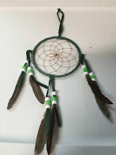 "Navajo Native American Dream Catcher Curtis Bitsui Dream Catcher 4"" Green Wow"