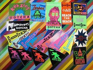 vtg 1980s Gotcha surf street sticker - classic 80s clothing hang tags