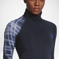 Women's Nike Pro Hypercool High Neck Running Top Blue Size Medium