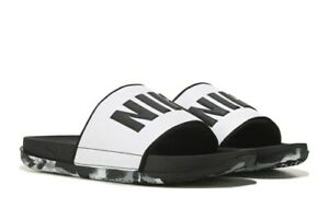 Nike OffCourt Cushioned Slides Sandals Men's Shoes 10 Black/White/Gray Newest
