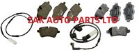 FOR MINI COOPER R56 S  FRONT + REAR BRAKE DISC PADS SET WITH WEAR SENSOR WIRES