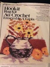 "Vintage HOOK IT Designer Latch Hook Rug Kit Style 4342 Flowers in a Vase 20""x27"""