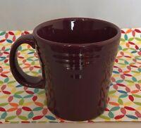 Fiestaware Claret Tapered Mug Fiesta Retired Burgundy 15 Oz Mug