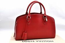 Authentic Louis Vuitton Epi Pont Neuf PM Hand Bag Red LV A1669