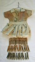 *Vintage Dress Shape Clothespin Bag with Wooden Clothespins
