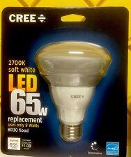 2 Bulb CREE LED 9w = 65 Watt Soft White BR30 Dimmable Flood, spot light Bulb