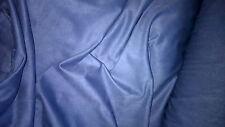 tissu EPAIS toucher velours suedine daim extensible col bleu100x140 cm
