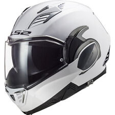 LS2 Valiant II 2 Flip Up Modular Motorcycle Helmet Solid Gloss White Small
