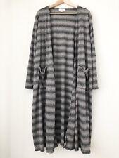 LuLaRoe Sarah Stripe Ribbed Knit Full Length Sweater Cardigan Duster Women Large