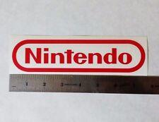 NINTENDO Vinyl DECAL STICKER BLK/WHT/RED Logo Window SNES Super Mario NES Smash