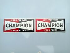 Champion Spark Plug Stickers for car tool box panel sticker