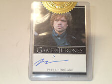 Game of Thrones Peter Dinklage (Tyrion Lannister) Autograph card Rittenhouse
