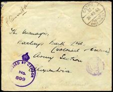 "EGYPT-UK 1942 BRITISH ""EGYPT 61 POSTAGE PREPAID 22.NO.42"" MILITARY CONCESSIONARY"