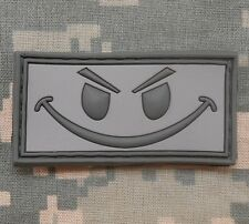 3D RUBBER PVC EVIL SMILEY TACTICAL USA ARMY ACU VELCRO® BRAND FASTENER PATCH
