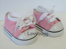 """Pink Glitter Sparkly Sneakers Doll Shoes for 18"""" American Girl Widest Selection!"""
