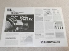 Shure V15 Type IV Super Track Ad, 2 pg, Articles, 1978