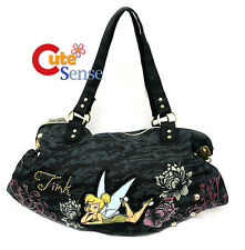 Disney TinkerBell Denim Shoulder Bag Hand Bag Large